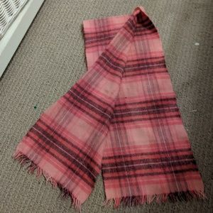 Vintage cashmere and wool scarf made in Scotland